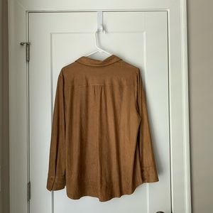 Chico's Tops - Chicos Faux Suede Shirt